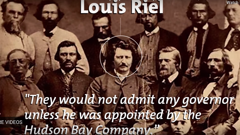 Photograph of Louis Riel and companions